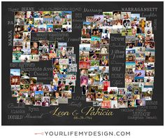 30x30 with 169 photos ❤ CollageDesign by http://yourlifemydesign.com/ #yourlifemydesign #photocollage #numbercollage #milestone