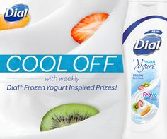 """Stay refreshingly cool this summer with Dial!""   Enter for your chance to WIN our FroYo inspired prize of the week!"