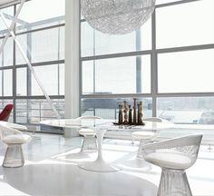 Saarinen Tavolo Ovale Bianco