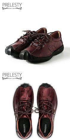 >> купить здесь << Prelesty Марка Натуральная Кожа Мужчины Обувь Повседневная Ручной Осень Зима Теплая Высокое Качество Мужчины Квартиры Обувь Vintage Style