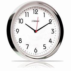 Relógio de Parede Quartz Cromado - Herweg 78,00