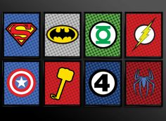PRINTABLE 8x10 16 Images Superhero Kids Wall by TheCuttingEdgeShop, $11.99