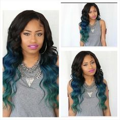 I want my hair dyed like this........Mermaid Ombre