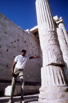 Athens 1969 (NBA famous player Wilt Chamberlain in Acropolis) Parthenon, Acropolis, Nba Records, Greece History, Wilt Chamberlain, In 2015, Basketball Players, Athens, Sword