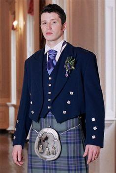 Prince Charlie Jacket & Vest, Navy