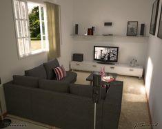 sala pequena decoração - Bing images