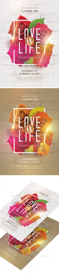 #Love Is Life #Party #Flyer - Clubs & Parties Events