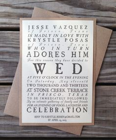 Rustic Antique Wedding Invitations by LemonInvitations on Etsy
