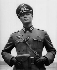 "Marlon Brando as Lt. Christian Diestl in ""The Young Lions"" (1958) dir. Edward Dmytryk"