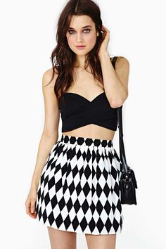 Diamond Cut Skater Skirt in Clothes Bottoms Skirts Fit-n-Flare at Nasty Gal