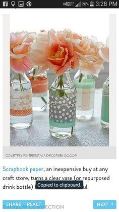 Soft glassed vases