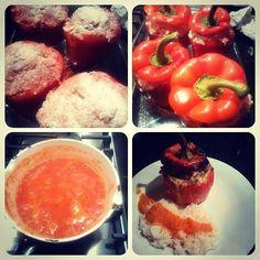 opgevulde paprika's met gehakt :-)