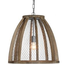 Park Hill Collection Galvanized Tin Pendant Light ...