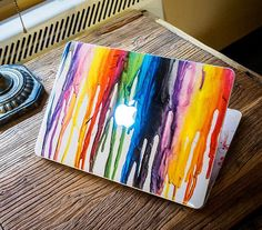 Macbook Front Decal stickers Watercolors by yourcreativemydecal