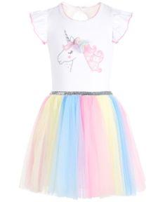 b6c0b603a30a Bonnie Jean Toddler Girls Rainbow Unicorn Dress - Pink 3 3T Unicorn Dress