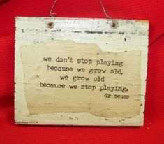 """Dr Suess on growing """"old"""""""