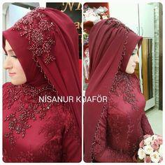 Beautiful Muslim Women, Beautiful Hijab, Beautiful Dresses, Muslim Wedding Gown, Wedding Hijab, Bridal Hijab, Hijab Bride, Muslim Fashion, Hijab Fashion