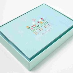 Flowers with Butterfly Notes (Set of 12) - Stationery