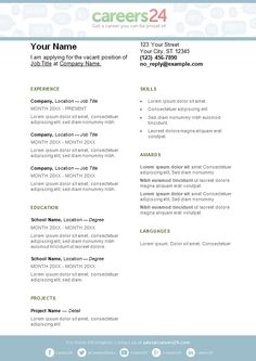 2 Page Cv Template South Africa - Resume Format