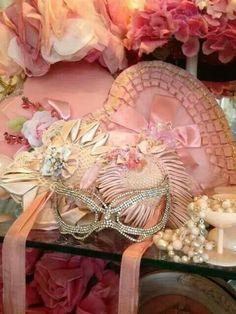 Pink Masquerade Props