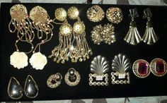 Lot of Vintage Earrings - 44 Pairs | Jewelry & Watches, Vintage & Antique Jewelry, Costume | eBay!
