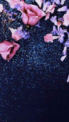 Flowers & Glitter #GlitterBackground