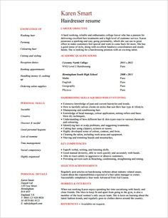 hair stylist resume template 8 free samples examples format download - Sample Resume Hair Stylist