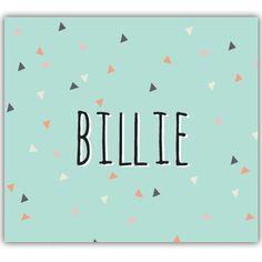 Geboortekaartje: confetti van driehoeken