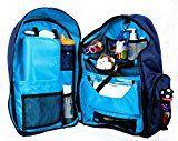"Okkatots + Travel Baby Depot Bag + Travel Diaper Backpack + Navy + 19"" x 15.5"" x 8.5"""