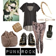 Style Inspiration :: Punk Rock... Idk about the shoes. I'd probably go with the awesome converse!!