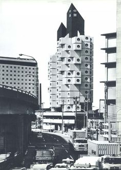 brutalism | capsule tower hotel | tokio | nakagin | concrete