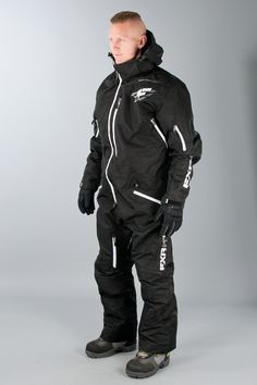 FXR Haalari Maverick Mono Suit Musta - Nopea toimitus - Sledstore