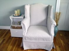 ... on Pinterest  Slipcovers, Drop Cloth Slipcover and Overstuffed Chairs