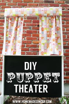 DIY Puppet Theater [Tutorial] : this theater is made from wood but you could certainly simplify this by making it with PVC pipe!