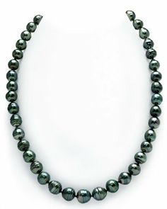 8-10mm Dark Tahitian South Sea Baroque Pearl Necklace - AAA Quality, 18 Inch Princess Length, 14K Gold Clasp The Pearl Source. $499.00. Save 71% Off!