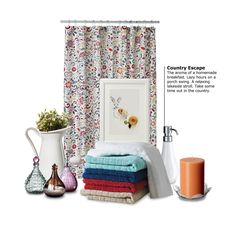 Take some time out in the country style bathroom of your dreams......i love the shower curtain (from ikea)