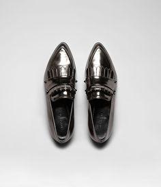 metallic loafers (AllSaints)