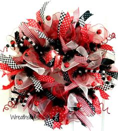 Hey, I found this really awesome Etsy listing at https://www.etsy.com/listing/228742883/ladybug-deco-mesh-wreath-spring-deco