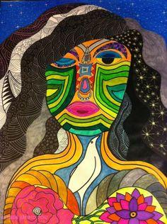 Self portrait by Ruwaida Kamand