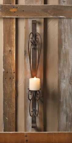 Rustic Simplicity Wall Sconce