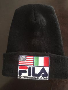 f4edf3712f4 EXTREMELY RARE 80 S FILA INTERNATIONAL GEAR BEANIE SKATER CAP SUPREME HAT