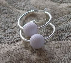 Golf Ball Hoop earrings just four fun not to tee you off