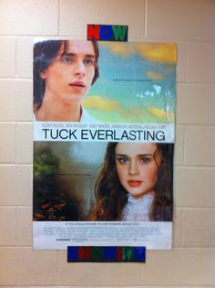 "Hollywood classroom theme, 2013-14  I teach 5th grade, and read aloud one novel each grading period.  I begin with ""Tuck Everlasting,"" which is on Kentucky's exemplar listing for fifth graders.  I searched online for the corresponding movie posters to go along with my four read-alouds.  ""Tuck Everlasting"" is ""Now Showing,"" and ""Coming Soon"" are ""Harriet the Spy,"" ""The Secret Garden,"" (exemplar) and assorted Muhammad Ali biographies (Kentucky history)."
