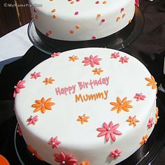 The name [mummy] is generated on Flowers Birthday Cake With Name image. Download and share Birthday Cake With Name images and impress your friends.
