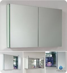 Fresca Bath FMC8010 40 Wide Bathroom Medicine Cabinet with Mirrors -- Check out this great product. Note:It is Affiliate Link to Amazon.