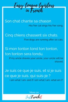 I love a good tongue twister. But damn, some are a bit hard. What about easy French tongue twisters for beginners? Cause it's a challenge! French Learning Books, Ways Of Learning, Teaching French, French Language Lessons, French Language Learning, French Lessons, Tongue Twisters In English, Tongue Twisters For Kids, Learn French Fast