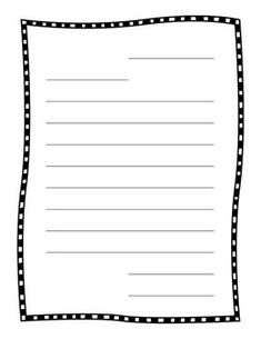 Free friendly letter writing template 7 best images of for Letter writing template for first grade