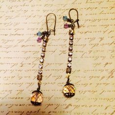 Feeling Shiny dangle earrings. by GemJelly on Etsy
