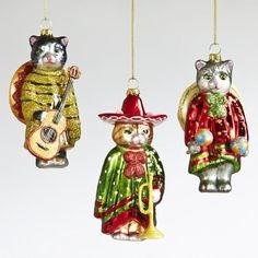 The three amigos kitty ornaments, taKITos!