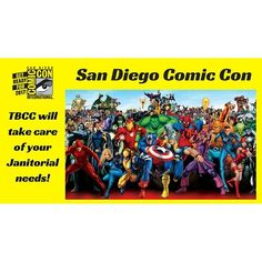 San Diego Comic Con is quickly approaching! @tbcccorp will take care of your janitorial needs for any #sdcc event! #sandiego #sandiegoconnection #sdlocals #sandiegolocals - posted by The Business Cleaning Company https://www.instagram.com/tbcccorp. See more post on San Diego at http://sdconnection.com